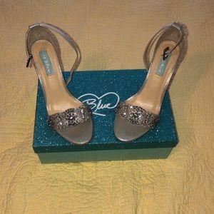 Betsey Johnson Silver Embellished Stilettos
